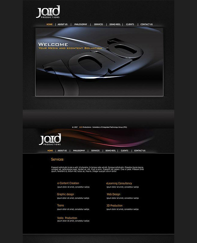 Jaid website design by tariqdesign fd0000