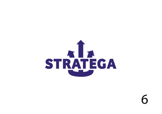 Stratega logo design process