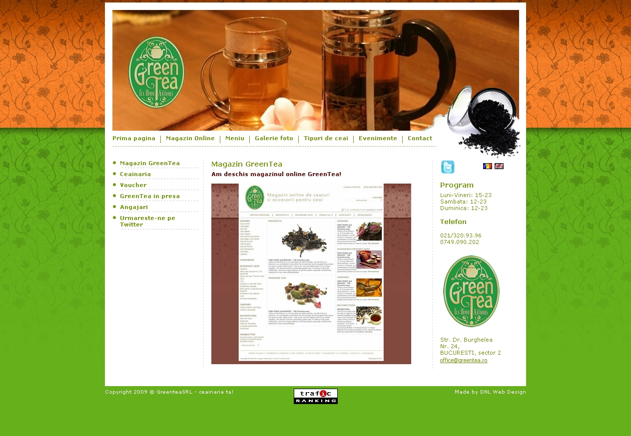 Web design optimizare seo greentea