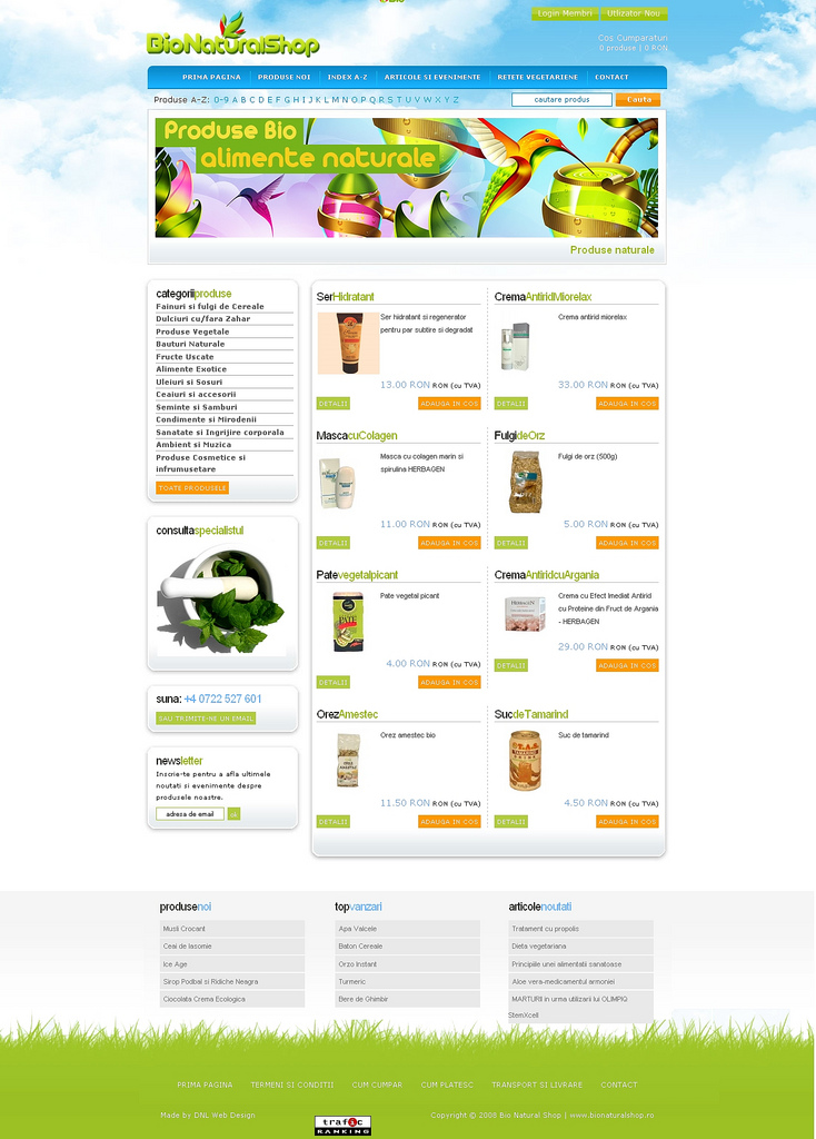Web design optimizare seo bionaturalshop
